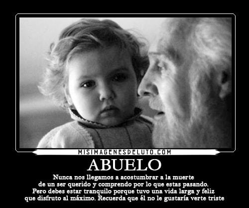 Imágenes de luto por un abuelo