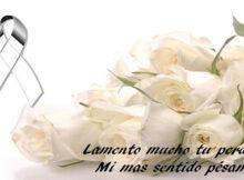 Fotos de luto con rosas blancas