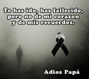 Fotos de luto de un padre para compartir