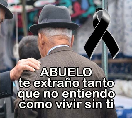 Abuelo descansa en paz