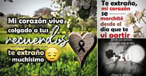 de luto con corazon triste