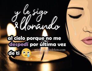 imagen de luto aun sigo llorando