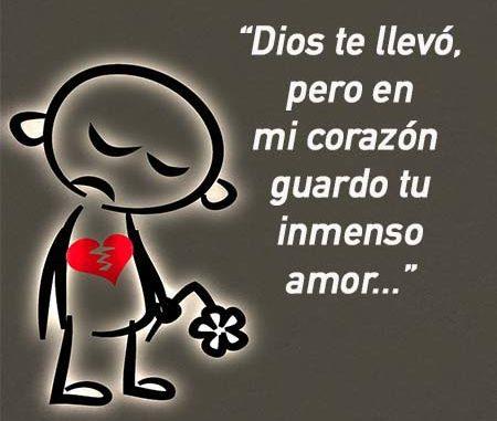 de luto Dios te llevo pero guardo tu amor